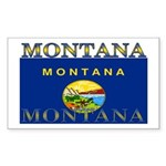 Montana State Flag Rectangle Sticker