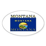 Montana State Flag Oval Sticker