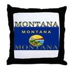 Montana State Flag Throw Pillow