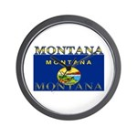 Montana State Flag Wall Clock