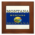 Montana State Flag Framed Tile