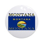 Montana State Flag Ornament (Round)