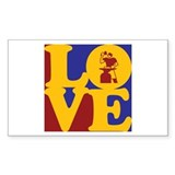 Metal Working Love Rectangle Decal