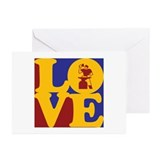 Metal Working Love Greeting Cards (Pk of 10)