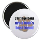 "Carriage Dogs man's best friend 2.25"" Magnet (10 p"