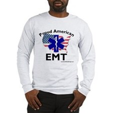 Proud AMerican EMT Long Sleeve T-Shirt