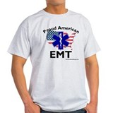 Proud American EMT Gray T-Shirt