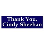 Thank Cindy Sheehan bumper sticker