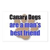 Canary Dogs man's best friend Postcards (Package o