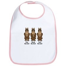No Evil Monkeys Bib