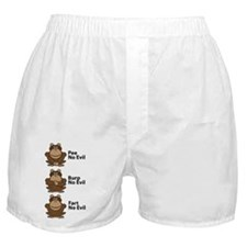 No Evil Monkeys Boxer Shorts