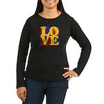 Kindergarten Love Women's Long Sleeve Dark T-Shirt