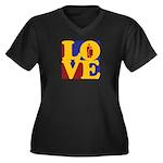 Kindergarten Love Women's Plus Size V-Neck Dark T-
