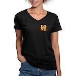 Kindergarten Love Women's V-Neck Dark T-Shirt