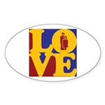 Kindergarten Love Oval Sticker