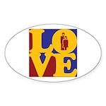Kindergarten Love Oval Sticker (10 pk)