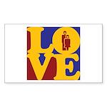 Kindergarten Love Rectangle Sticker