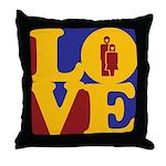 Kindergarten Love Throw Pillow