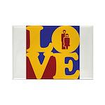 Kindergarten Love Rectangle Magnet (100 pack)