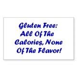 Gluten Free: No Flavor Rectangle Sticker 10 pk)