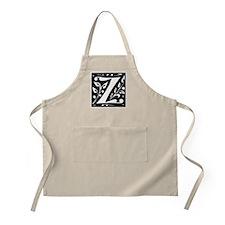 Art Nouveau Initial Z BBQ Apron