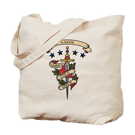 Love Latin Tote Bag