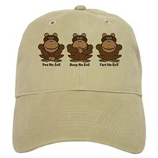 No Evil Monkeys Baseball Cap