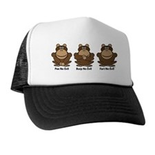 No Evil Monkeys Trucker Hat
