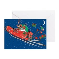 Hot Rod Santa Christmas Greeting Cards (Pk of 10)