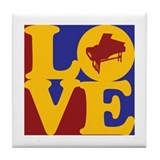 Harpsichord Love Tile Coaster