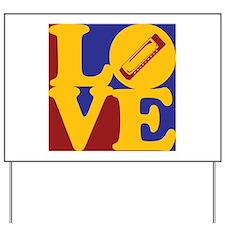 Harmonica Love Yard Sign