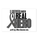Never Knew A Hero 2 Grey Ribbon Mom Postcards (Pac