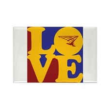 Hang Gliding Love Rectangle Magnet