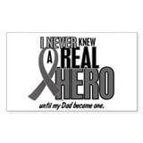 Never Knew A Hero 2 Grey Ribbon Dad Decal