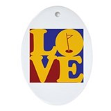 Golf Love Oval Ornament