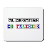 Clergyman In Training Mousepad