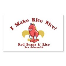 Red Beans & Rice Rectangle Sticker 50 pk)