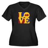 Gaming Love Women's Plus Size V-Neck Dark T-Shirt