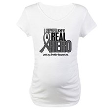 Never Knew A Hero 2 Grey Ribbon Brother Shirt