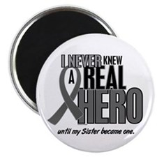 Never Knew A Hero 2 Grey Ribbon Sister Magnet