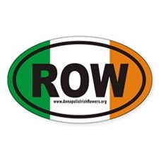 ROW AnnapolisIrishRowers.org Euro Oval Decal