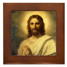 Christ Image Framed Tile