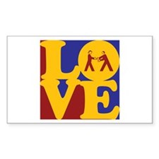 Diplomacy Love Rectangle Sticker 10 pk)