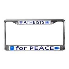 Atheists for Peace License Plate Frame
