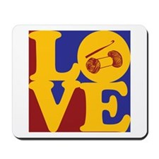 Crocheting Love Mousepad