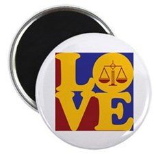 "Criminal Justice Love 2.25"" Magnet (100 pack)"