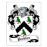 Peebles Family Crest Small Poster