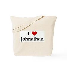 I Love Johnathan Tote Bag