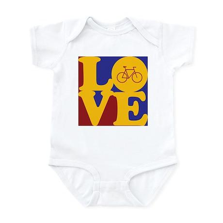 Bicycling Love Infant Bodysuit