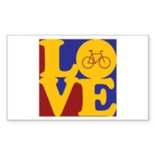 Bicycling Love Rectangle Sticker 10 pk)